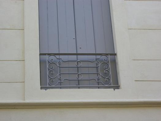 Reproduction of railings at the old (current standards)