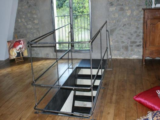 Straight staircase steel