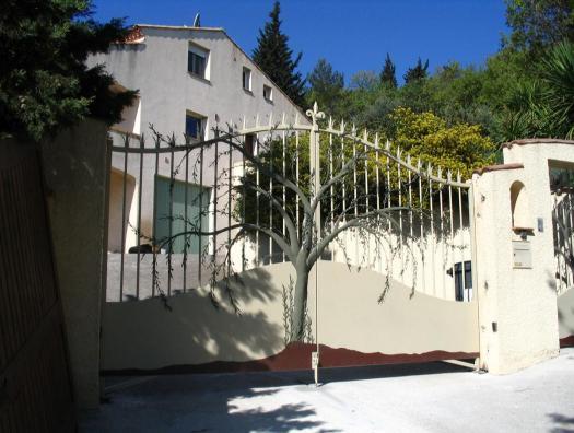 Le corps de l'olivier s'ouvre avec le portail