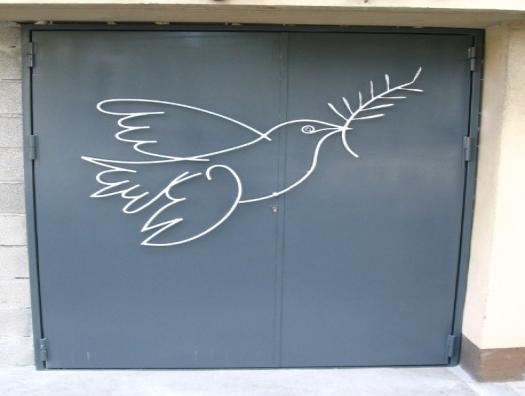 Porte...Décoration colombe de la paix